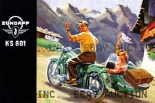 Zundapp KS 601 motorcycle sidecar poster picture image ca 8 x 10 print prent