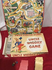 Vintage Uncle Wiggly Board Game 1954 Milton Bradley Howard & Garis 4817