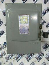 Square D322 Series A 60 Amp 240 Volt 3p3w Fusible Vintage Disconnect