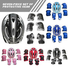7pcs Kids Safety Helmet Bike Cycling Knee Elbow Wrist Pad Protective Gear Guard