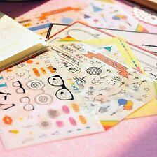 Korean Jetoy Cute Kawaii PVC Polaroid Photo Deco Sticker 6 Sheets NEW