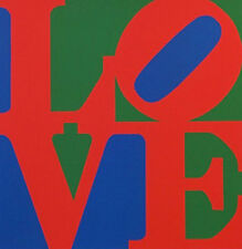 "Robert Indiana       ""Love (Blue Red Green)""    1996   Screenprint"