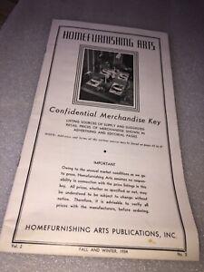 1934 HOMEFURNISHING ARTS PUBLICATIONS MERCHANDISE KEY BOOKLET