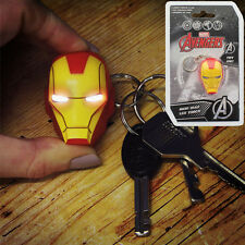 Avengers Marvel Iron Man Head LED Torch Keyring Schlüsselanhänger