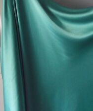 SEAGREEN MINT SATIN BACK CREPE FABRIC, 150cm wide,EVENING, BRIDESMAIDS,NEW,AUST.