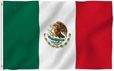 New 3'x5' Polyester MEXICO FLAG Mexican Banner Pennant Bandera Indoor Outdoor