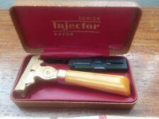 Vintage Schick Injector Safety Razor, w/ Case & Blades, 1939,  Pre-Eversharp