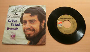 """7"""" Sergio Mendes & Brasil 66 for what it's worth gut"""