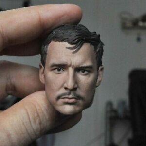 1/6 Pedro Pascal Mandalorian Head Carving Sculpt 12'' Male Head Model