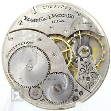 1904 ELGIN Pocket Watch Movement 7 Jewels Grade 234 Parts / Repair 12s