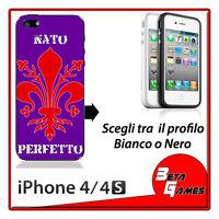 Firenze Fiorentina Nato Perfetto COVER RIGIDA CUSTODIA IPHONE 4 E 4s