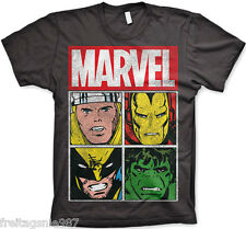 MARVEL CHARACTERS HULK Distressed  T-Shirt  camiseta cotton officially licensed