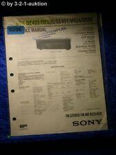 Sony Service Manual STR DE435 /DE535 /SE491 /V424 /V525 FM/AM Receiver (#5266)