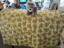 LION STUFFED ANIMAL and BABY LION ALL OVER COTTON QUILT STRIPPED BACK
