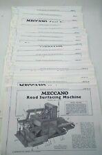 MECCANO ERECTOR Instruction Booklet Manuals Copies 20 Plus Parts Sheets