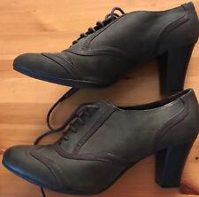 TOP ! Dunkelgrün Damen Pumps zum Schnüren GRACELAND 41 – 7cm Absatz Schuhe