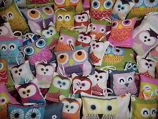 12 Lavendelsäckchen *12 Eulen Mix 12* Lavendelkissen Anhänger Deko Eule Owl