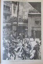 JOURNAL DES VOYAGES N° 871 de 1894 TIBET LHASSA LA DANSE DU DIABLE EGYPTE VÊPRES