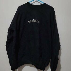 Unisex OLD NAVY Jumper Pullover Black Vintage Thrift Good Condition