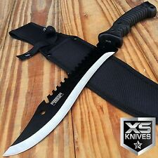 "15"" Tactical SURVIVAL Fixed Blade FULL TANG Hunting Machete Combat Knife BOWIE"