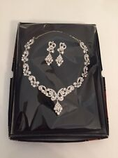 Diamond Crystal Necklace Earrings Jewellery Set Perfect Present Gift RRP £25