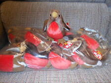 Ty Beanie Babies WHOLESALE  - Early the Robin - ONE DOZEN- Retired-New in Bag