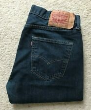 Mens Levis 501 XX indigo blue straight leg denim jeans W 34 L 32