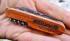 Folding BENELLI ARMS Pocket ARMY Knife 828U Shotgun WOOD Rifle GUN RARE MINT