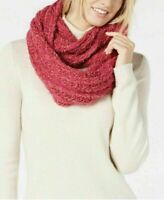 INC Women's Pink Chenille Textured Loop Fashion Infinity Soft Scarf