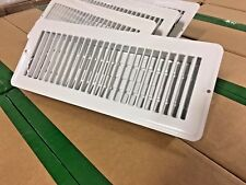 "WHITE 4"" X 12"" METAL FLOOR REGISTER/VENT FOR MOBILE HOME / RV / HOUSE - LOT OF 4"