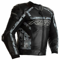 RST Tractech Evo R CE Moto Motorbike Motorcycle Leather Jacket Black / Camo