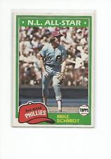 MIKE SCHMIDT 1981 Topps Baseball card #540 Philadelphia Phillies NR MT