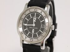 Vintage BVLGARI Solotempo ST35S Men's Quartz Watch - Rubber Strap