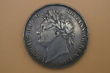 King George IIII 1822 Milled Silver Crown - SECUNDO Edge Legend