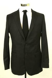 mens charcoal gray OLIVER WICKS blazer jacket sport coat wool two button 38 L
