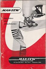 MAN-SEW VINTAGE SEWING MACHINES AND ATTACHMENTS BROCHURE BROCHURE-ORANGE