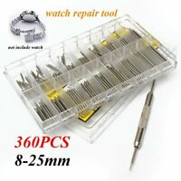 360pcs Watch Band Remover Spring Bar Strap Link Pins 8-25mm Repair Tool Kit