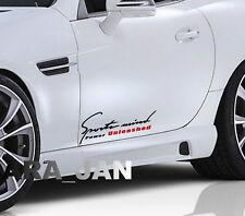Sports mind UNLEASHED Decal Sticker sport car racing door logo emblem motorsport