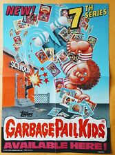 1986 GARBAGE PAIL KIDS 7th SERIES 7 GPK OS7 PROMO POSTER AD RETAIL DISPLAY WAX