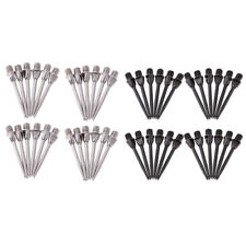 New listing 48 Pieces Hammer Head Dart Tips Replacement for Darts Standard Black+Silver