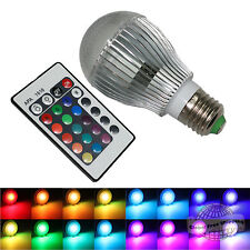 16 Colors Changing 9W magic E27 RGB LED Lamp Light Bulb + IR Remote Control