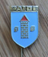 Paide Coat Of Arms Vintage USSR Soviet Estonia Pin Badge