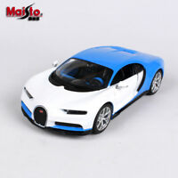 Maisto 1/24 Scale Bugatti Chiron Alloy Diecast Racing Car Vehicles Blue White