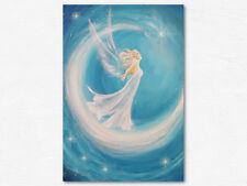 """Schutzengel Bild """"Das ist mein Traum"""" Kunstfoto in Blau Weiß, Engel Geschenke"""