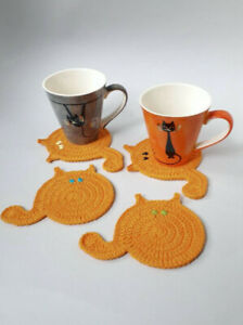 Fat cat coaster set of four