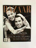 John Travolta Signed Autographed Harper's BAZAAR Magazine January 1999