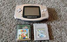 Nintendo Gameboy Advance GBA + Pokemon Silver & Mario Golf!