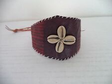 Genuine Leather. One Size. Original African Cowrie Bracelet on