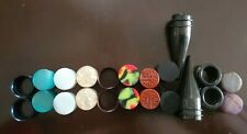 Wood, Silicone,&Acrylic Ear Gauges Plugs Tunnels 20mm -9 Pair of Stone, Steel,