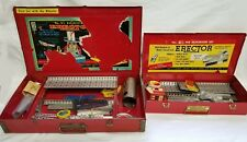 Lot of 2 Vintage Gilbert Erector Sets 4 1/2 and 8 1/2 Mysto Steel